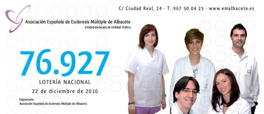 a la venta la lotería de esclerosis múltiple Albacete