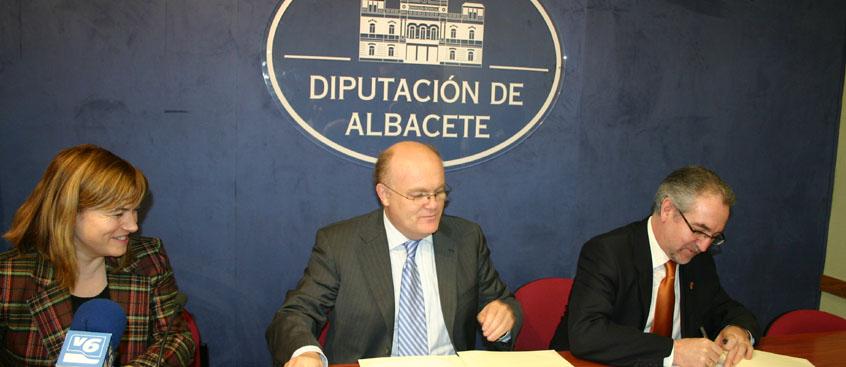 ADEM-AB firma un convenio de colaboración con la Diputación de Albacete