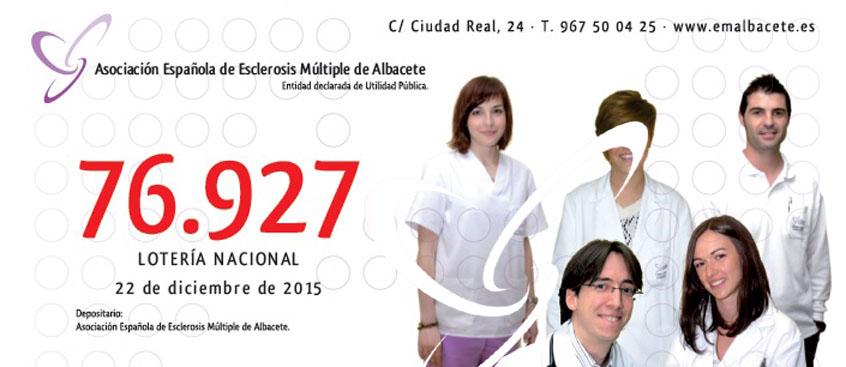A la venta la lotería de Navidad de la Asociación de Esclerosis Múltiple de Albacete