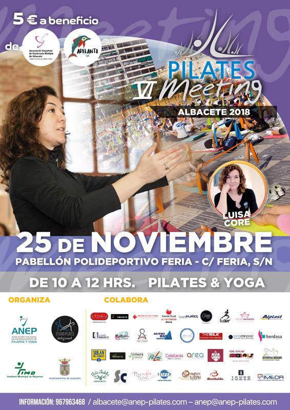 pilates y yoga a beneficio de la asociación de esclerosis múltiple