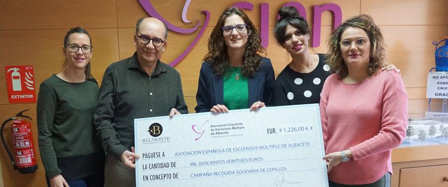 El Centro Avanzado de Odontología Belmonte colabora con la Asoc. de Esclerosis Múltiple